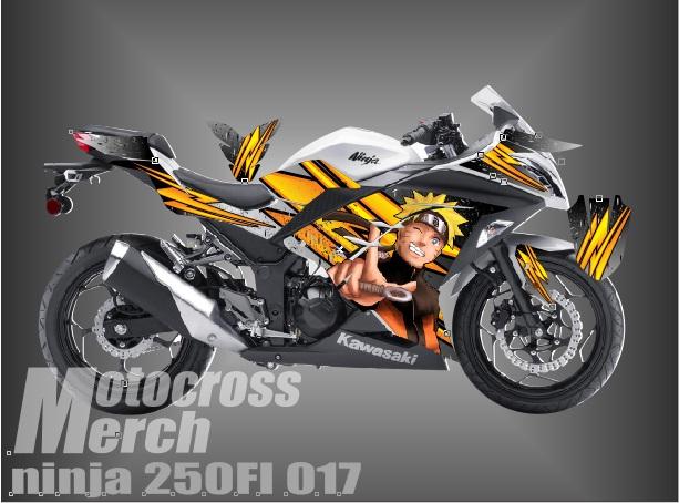 DECAL KAWASAKI NINJA 250FI Naruto Motocross Merch